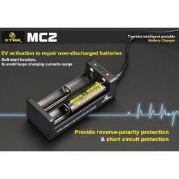 XTAR MC2 caricabatterie per batterie al litio