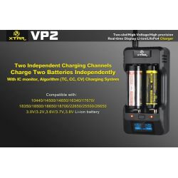 Xtar VP2 Charger carica batterie