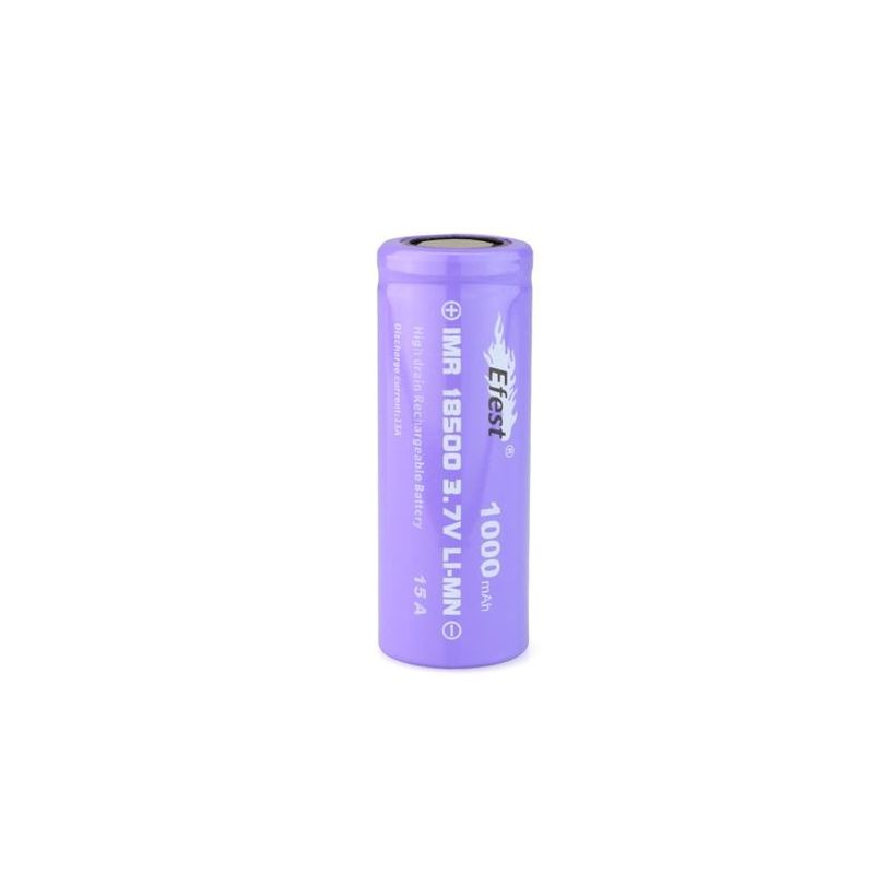 svapo-Efest Purple IMR 18500 1000 mAh Flat Top-Box - Batterie-SvapoCafe