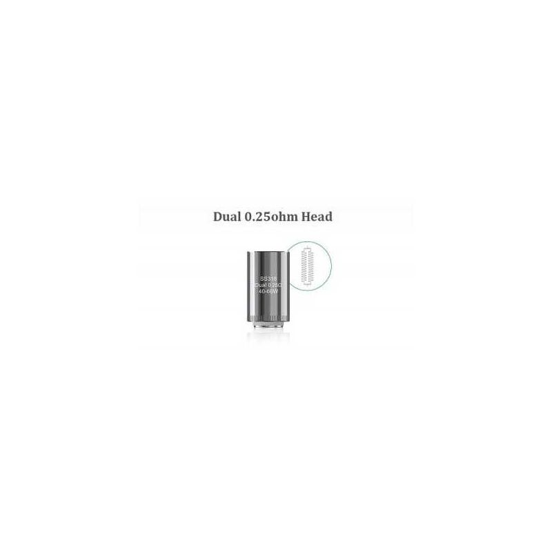 svapo-1x coil 0.25ohm Eleaf Dual-Coil Lyche-ELEAF-SvapoCafe