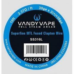 svapo-WIRE MTL SS316 SUPERFINE FUSED CLAPTON 30GA*2+38GA - VANDY VAPE-Rigenerazione-SvapoCafe