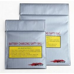 Borsa di sicurezza ignifuga per caricabatterie  Misura 22cm x 18cm