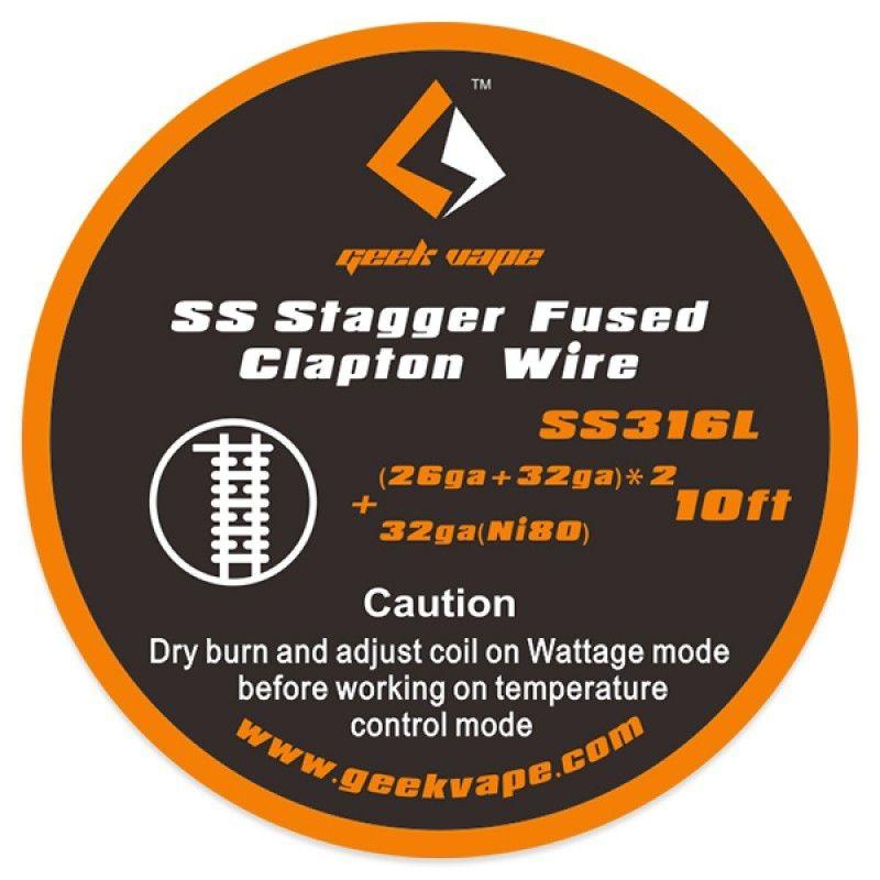 svapo-Stagger fused clapton SS316 (26ga+32ga)x2+32ga 3m-Accessori-SvapoCafe