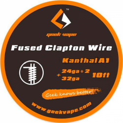 Fused Clapton Kanthal A124gaX2+32ga3 Mt