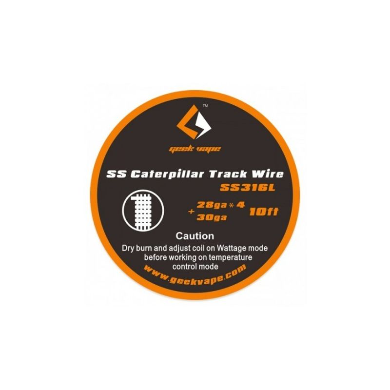 svapo-Caterpillar Track SS316 28gaX4+30ga5 Mt-Wick Fili Resistenze Mesh-SvapoCafe