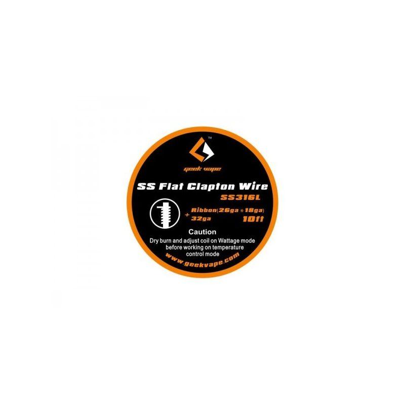 svapo-FLAT Clapton SS316 wire ribbon (26GAx18GA)+32GA geek vape-Rigenerazione-SvapoCafe