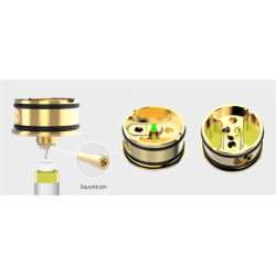 svapo-PULSE 22 BF RDA -Silver - VANDY VAPE-Atomizzatori-SvapoCafe