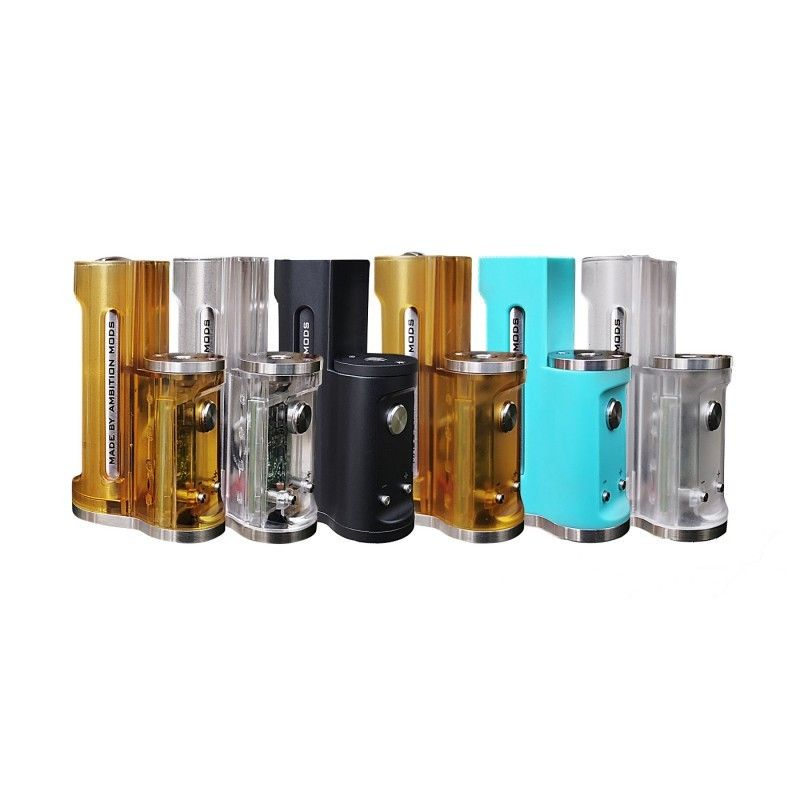 svapo-Easy Side Box Mod Stealth 60w - Ambition Mods - Yellow frosted-Home-SvapoCafe