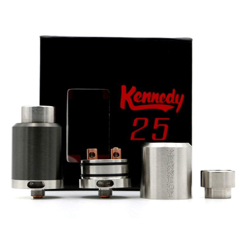 svapo-KENNEDY 25mm- replica Eycotech  SILVER-Rigenerabili RBA-SvapoCafe